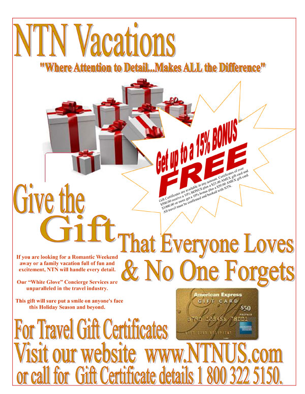 Give the Gift That Everyone Loves & No One Forgets! | Norton Travel Network