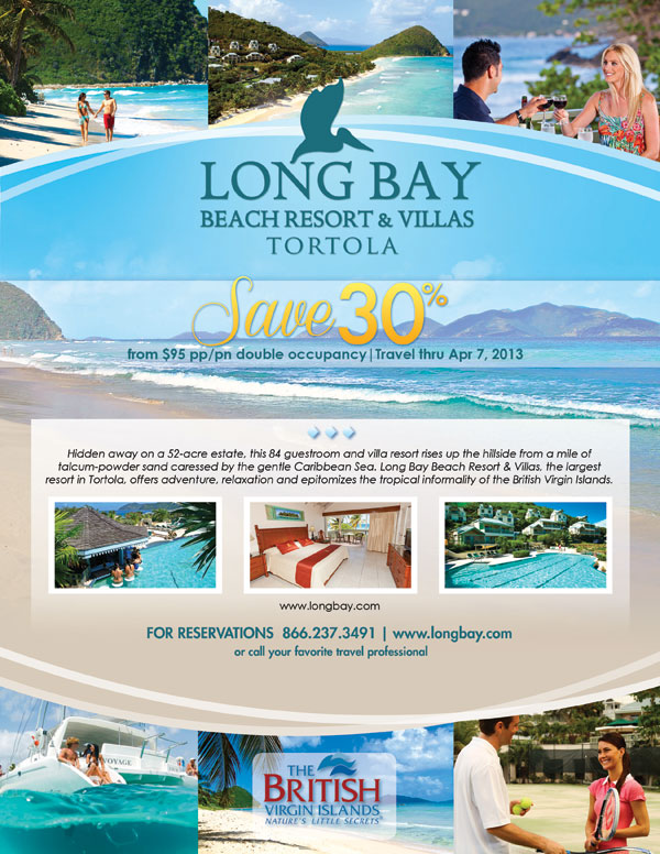 Save 30% at Long Bay Beach Resort & Villas Tortola | Norton Travel Network