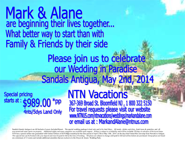 Mark and Alane are beginning their lives together...
